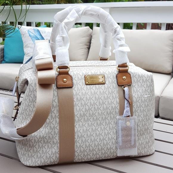 ba68feeb44f49 NWT Michael Kors LG travel bag weekender vanilla